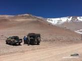 und ein kleines Picknick mit Alex und Markus oben am Paso de Agua Negra