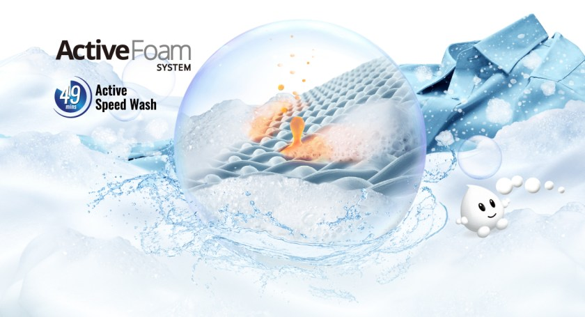 Lifts Stains Away Fast with Fine Foam