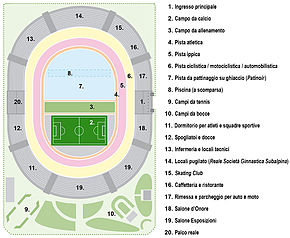 Pianta dello Stadium Torino 1911