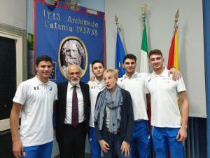 Fidal Sicilia dedica al Prof.Cacchi la palestra, un momento della cerimonia.
