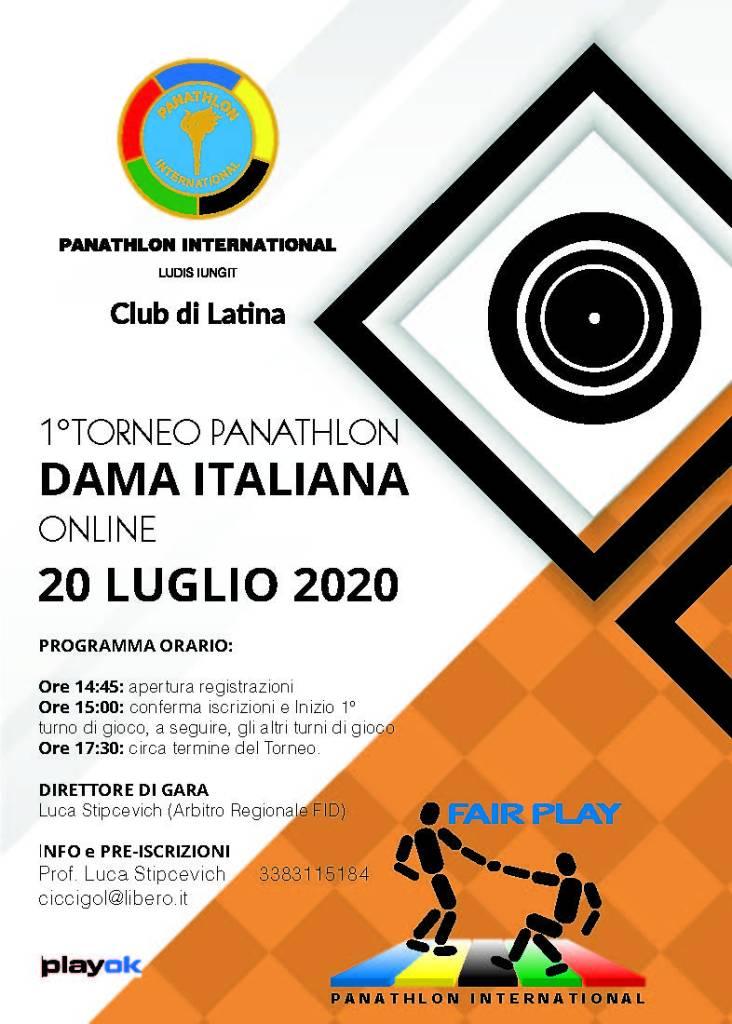 Torneo Panathlon di Dama Online