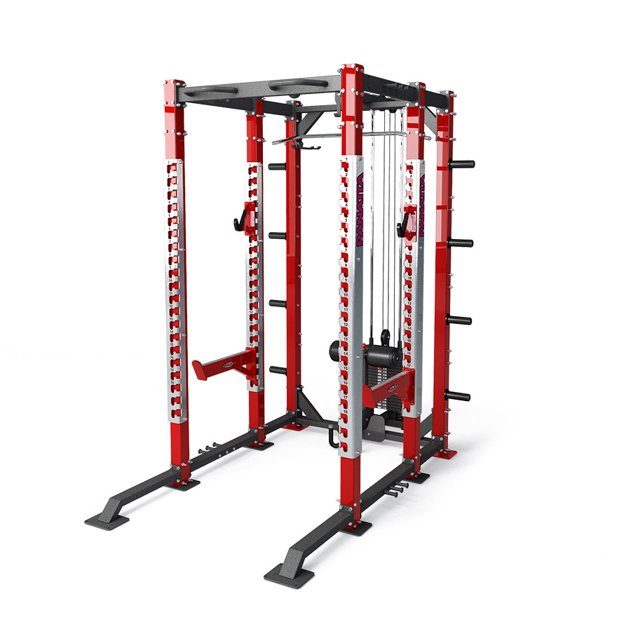 dfc power rack with lat pulley