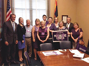 Phoenix Advocacy Chair Megan Martin (first row, third from right) with Arizona Senator Jeff Flake (far left) and fellow affiliate members at Advocacy Day in Washington, D.C.