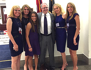 Dianne and her sisters go to Advocacy Day every year. Here they are with Dr. Jordan Berlin, pancreatic cancer researcher and Scientific and Medical Advisory Board member of the Pancreatic Cancer Action Network.