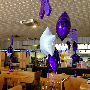 Pizza by Pappas, located in Scranton, Penn., hosts a pizza fundraiser to raise money for their local PurpleStride.