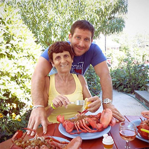 Chef Michael Ferraro with his mother