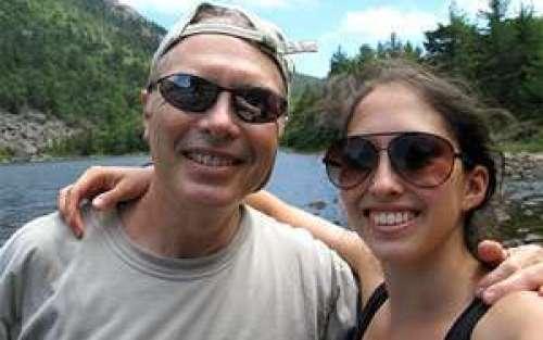 Erin Holstein with her father, Philip L. Holstein