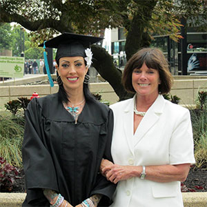 Natascha and mom at graduation 2014