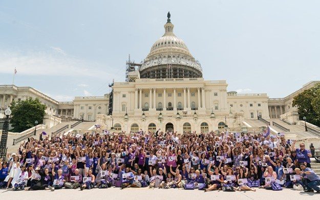 More than 650 PanCAN advocates including 100 survivors stand on Capitol Hill to raise awareness for the nation's toughest cancer