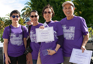 Team captains from the top fundraising teams at PurpleStride San Francisco 2016