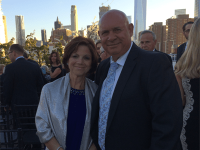 Josephine Scivoli, pancreatic cancer survivor with his husband John Scivoli