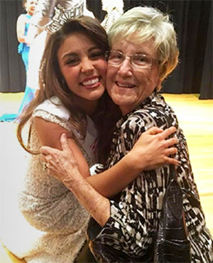 Laryssa Bonacquisti at the Miss Louisiana contest with her grandmother who died from pancreatic cancer