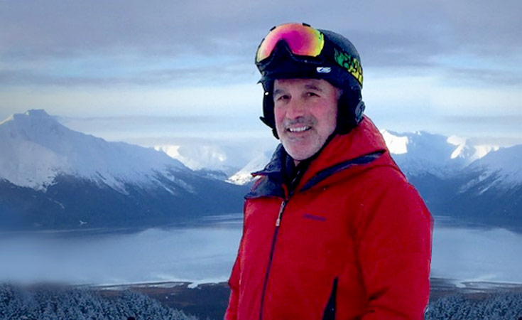 14-year pancreatic cancer survivor on skis