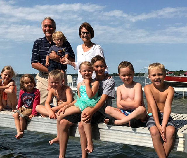 Pancreatic Cancer Survivor On A Lake In Minnesota With His Wife And Grandchildren Steve