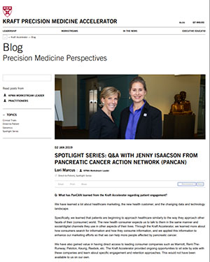 Interview with PanCAN executive on precision medicine in Harvard Business School's newsletter