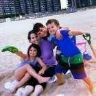 Pancreatic cancer survivor enjoys time with her three children
