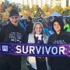 Pancreatic cancer survivor attends PurpleStride event with her two sons