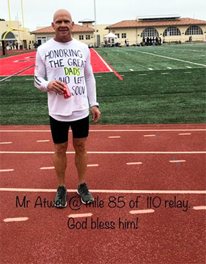 High school coach and cancer survivor running 110 miles in support of teen cancer fundraiser