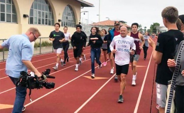 High school teacher, coach and survivor runs 100 miles at annual fundraiser for cancer research