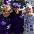 Volunteer with PanCAN founder and singer Erin Willett at Orange County 5K pancreatic cancer walk