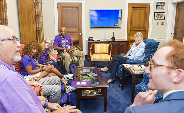 PanCAN advocates meet in Congress member's office on Capitol Hill at Advocacy Day 2019