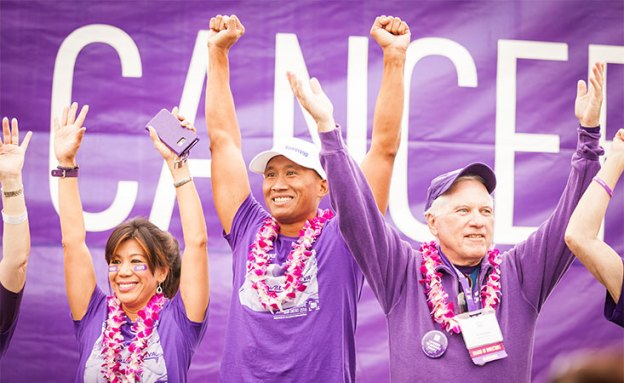 Pancreatic cancer survivors at PurpleStride