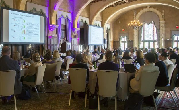 Pancreatic cancer experts at PanCAN scientific conference listen to a research presentation