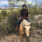 Pancreatic cancer patient on horseback in Arizona one year after her diagnosis
