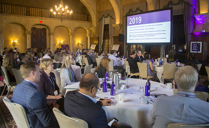 Large group of pancreatic cancer researchers and clinicians learn about updates in the field