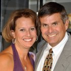 Real estate chairman John M. Sobrato and his wife Abby who died from pancreatic cancer