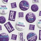 Campaign pins for PanCAN's virtual Advocacy Week to increase pancreatic cancer research funding
