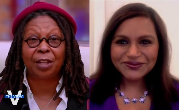 "Mindy Kaling and Whoopi Goldberg on ""The View"" Nov. 30, 2020, discussing supporting PanCAN"