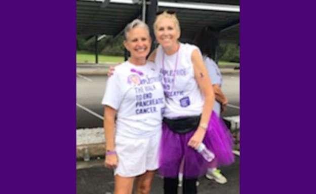 Bonnie Ryan with friend and fellow pancreatic cancer survivor