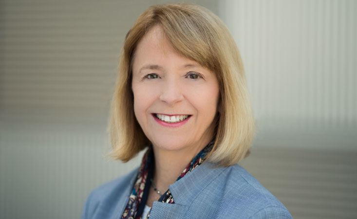 Headshot of Caucasian woman who is the chief medical director at Pancreatic Cancer Action Network.