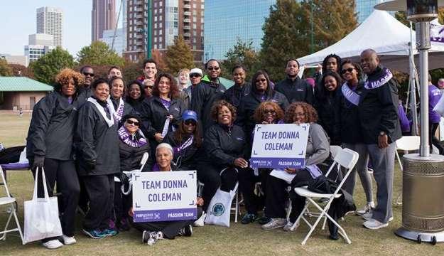 Team Donna Coleman at a PanCAN PurpleStride event.