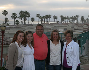Soukup family on vacation in San Diego