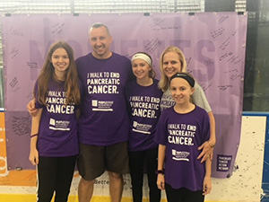 The Schiffmacher family at PanCAN PurpleStride