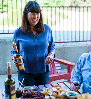Susan Marks of Cedarville Vineyard and Winery; she died of pancreatic cancer in 2020