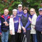 PanCAN donor Susan Brown and friends at PanCAN's PurpleStride walk.