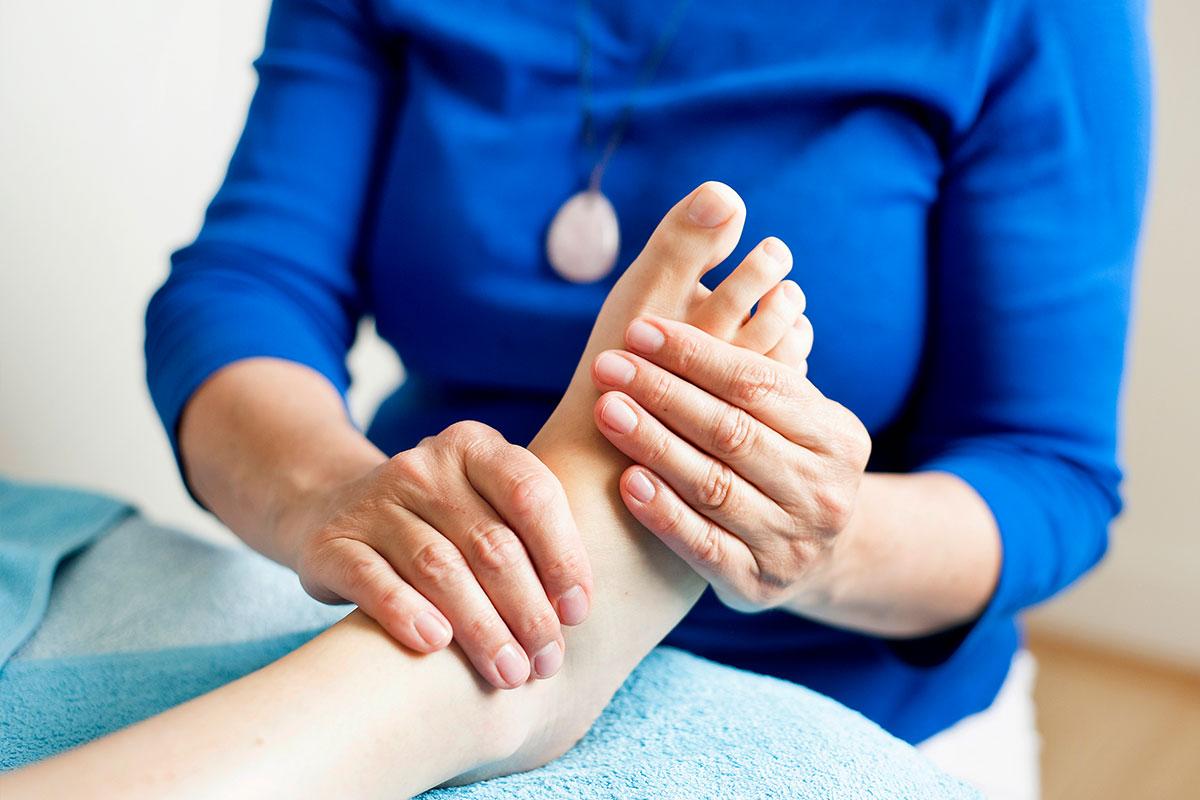 Pancha khanda. Foot reflexology