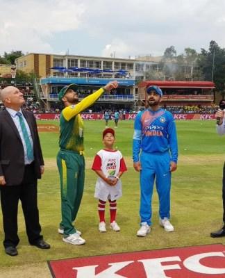 INDvsSA T20: दक्षिण अफ्रीका ने टॉस जीतकर गेंदबाज़ी चुनी