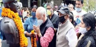 शहादत के 21 साल बाद शहीद मेजर सुधीर वालिया की प्रतिमा को मिली जगह-Panchayat times