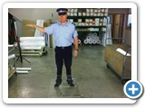 Life sized cutout of a policeman