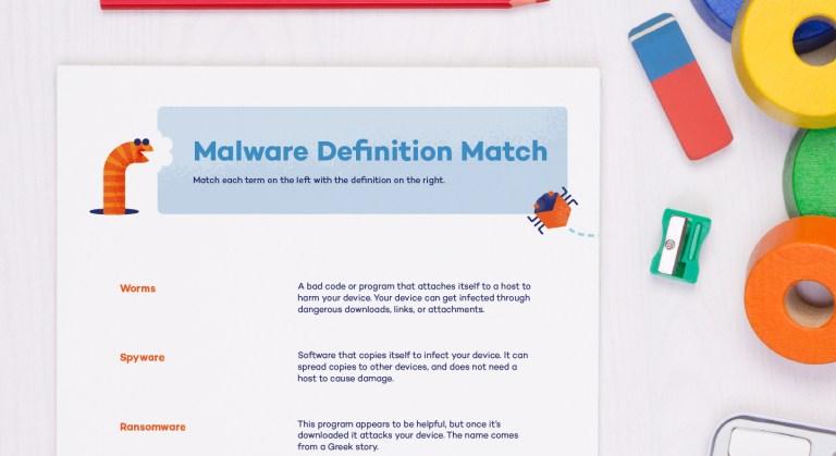 Empower girls on malware types