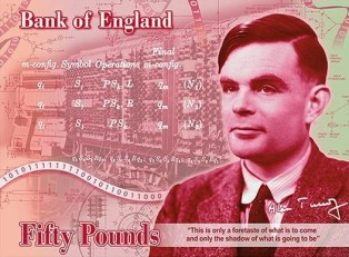 Alan Turing banknote concept – the Bank of England