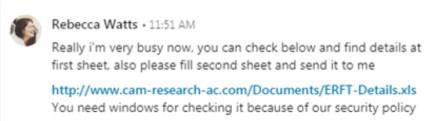 Mensaje LinkedIn