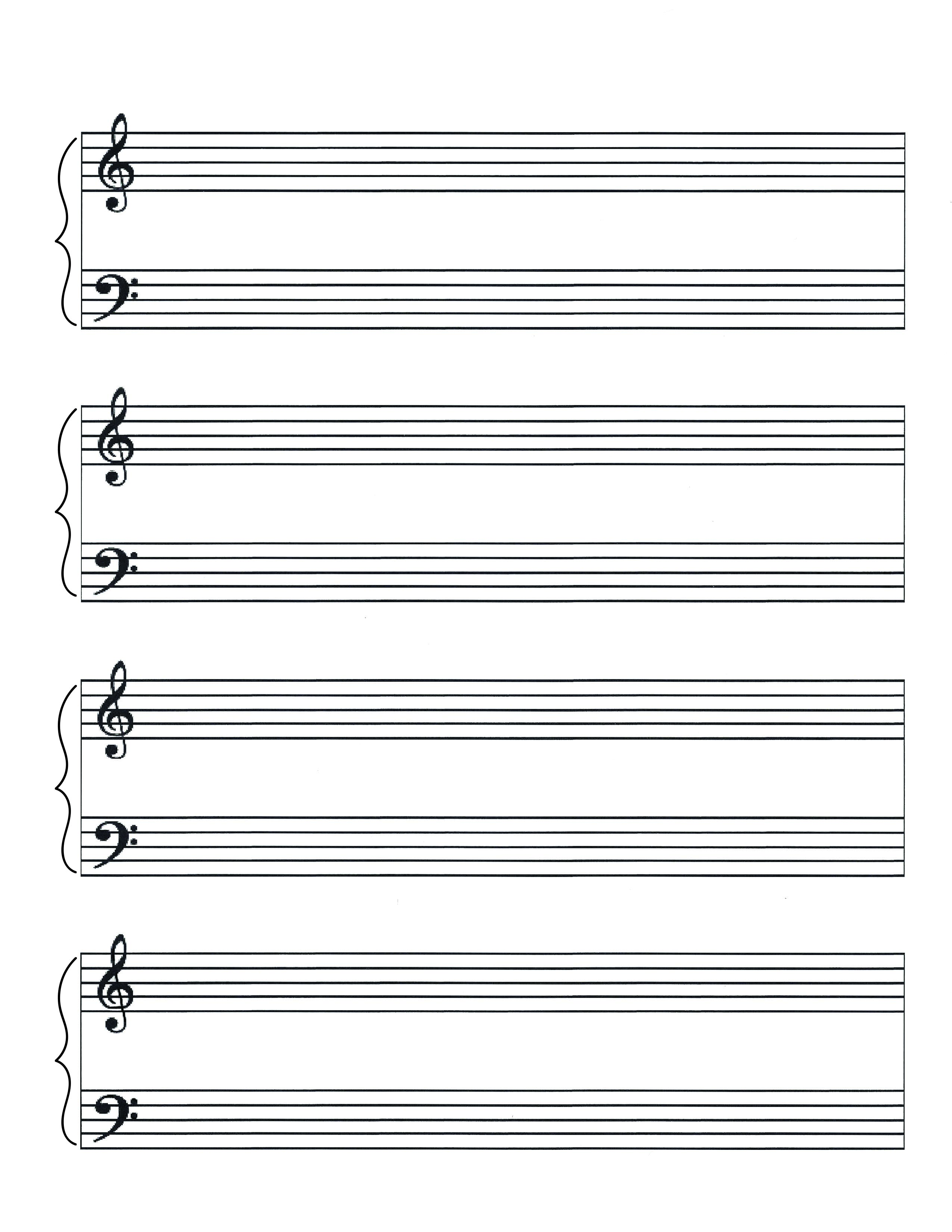 Piano Music Sheet Templates Pandastic Designs