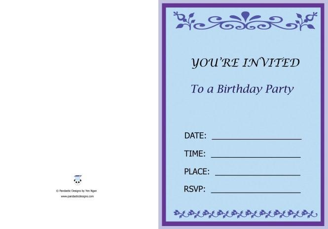 01 Birthday Party Invitation Card
