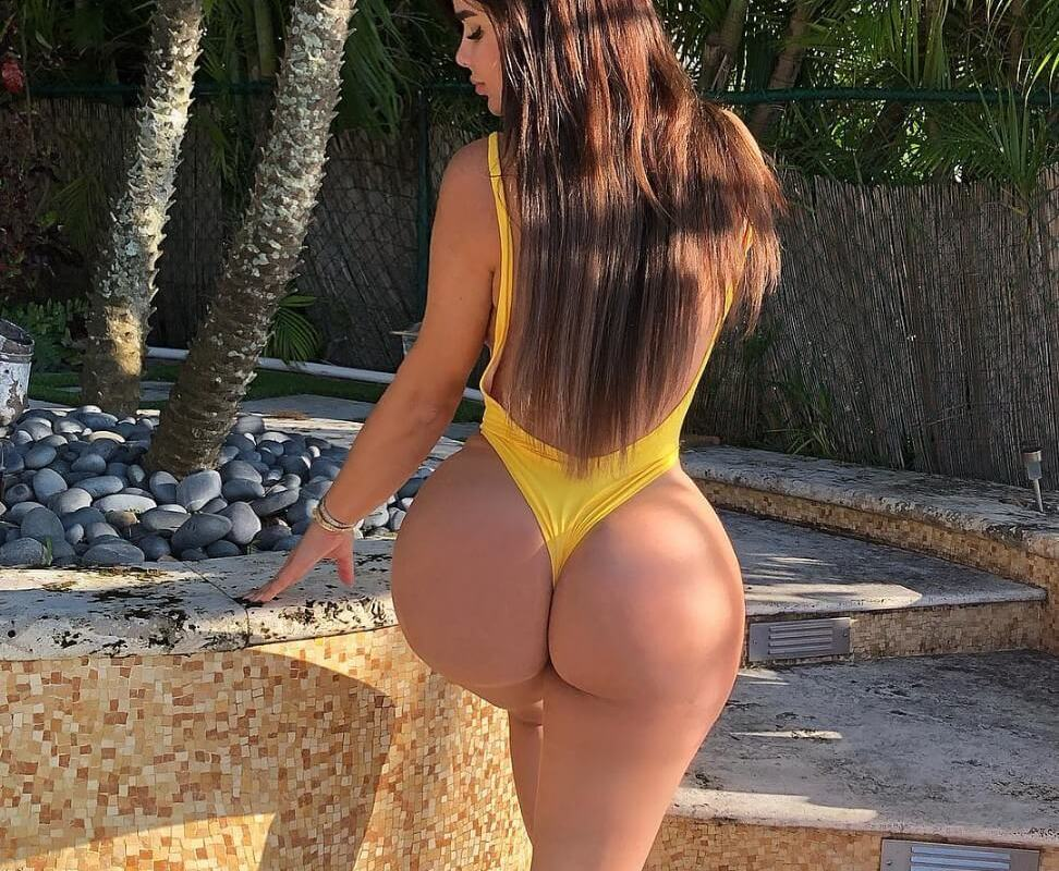 instagram model with fat ass in sexy thong swimsuit