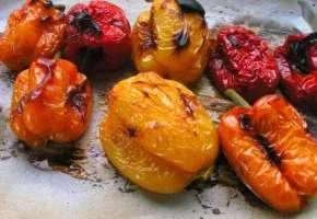 Πιπεριές ψητές στο γκριλ